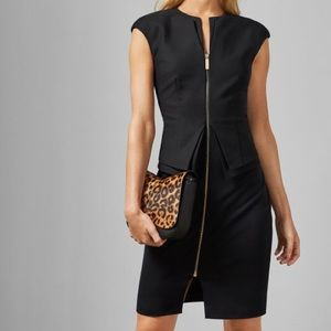 Ted Baker KWYLI Structured Peplum Zip Dress
